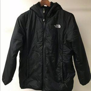 North Face Black Reversible Hooded Jacket